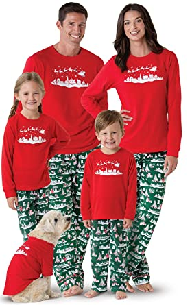 pajamagram night before christmas matching family pajamas red women xsm 2 4 - Family Pajamas Christmas
