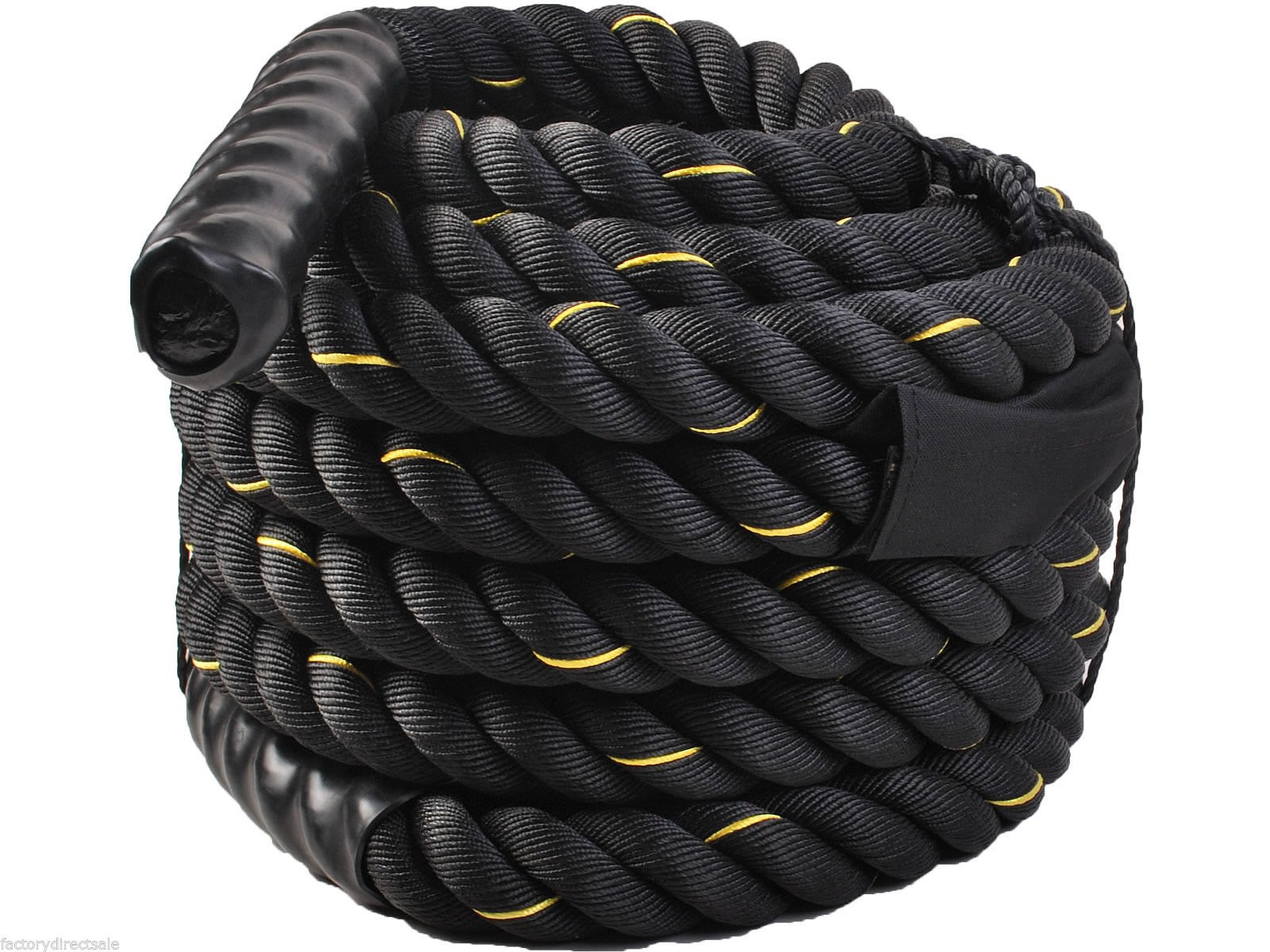 Giantex 1.5'' Workout Strength Training Undulation Poly Dacron Battle Rope Black (40ft)