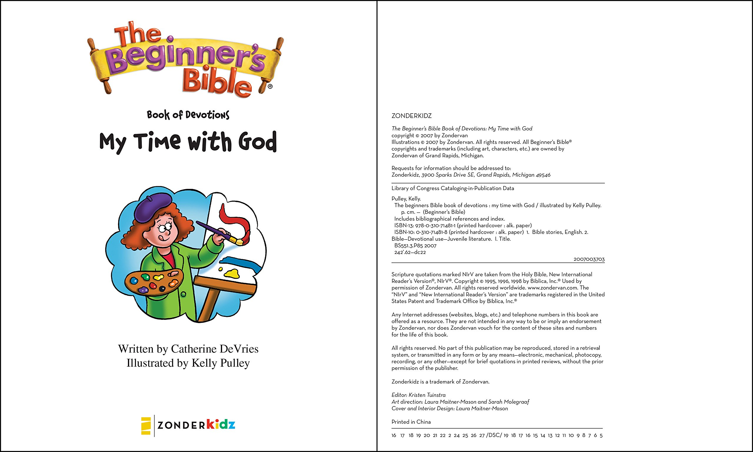 The Beginner's Bible Book of Devotions---My Time with God: Zondervan