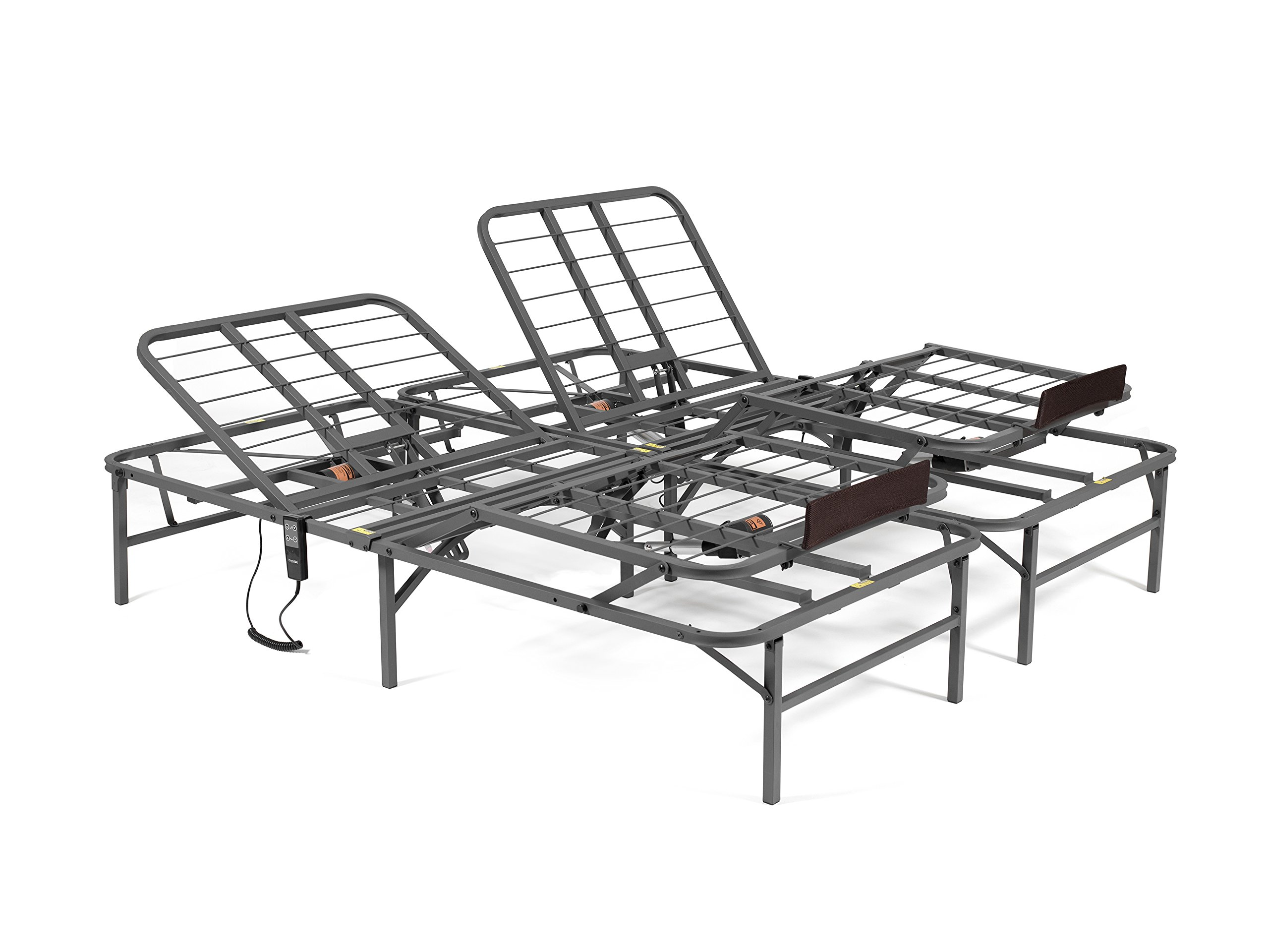 PragmaBed Pragmatic Adjustable Bed Frame, Head and Foot, California King, Gray by PragmaBed