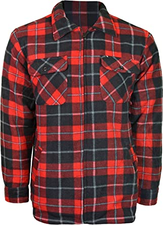 offer discounts quality designer fashion Mens Padded Shirt Polar Fleece Lined Thick Work Shirts Winter Warm (Large,  Design - 4)