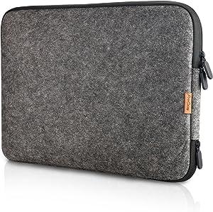 "Procase 12 Inch Felt Laptop Sleeve Case Bag for Surface Pro 7 / Pro 6 / Surface Pro 2017/ Pro LTE/Pro 4 3, Apple MacBook and Most 11"" 12"" Chromebook Ultrabook Notebook –Black"