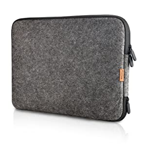 "ProCase 13-13.5 Inch Felt Laptop Sleeve Case Bag for MacBook Pro Air, Surface Book and Most 12"" 13"" Dell HP Acer ASUS Toshiba Lenovo Chromebook Ultrabook Notebook -Black"