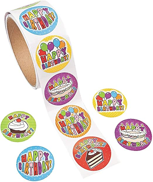 Amazon.com: Pegatinas Divertidas Express 100 Cumpleaños Roll ...