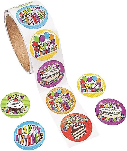Amazon.com: Pegatinas Divertidas Express 100 Cumpleaños Roll ...