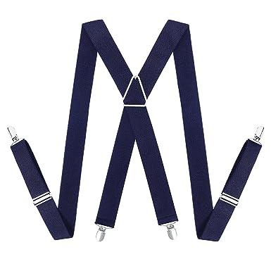 Bretelles pour Hommes et Femmes - 35 mm Large X Forme élastique et Réglable  bretelles avec f81b601b3275