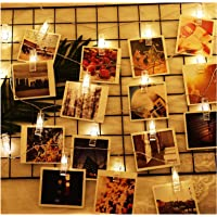 Photo Clip String Lights, Amazer Tec 3M / 20 LED Photo Clip String Lights, Remote Control, Warm White, Timer, Christmas…