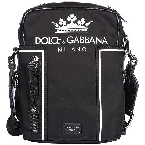 Dolce Gabbana borsa uomo a tracolla borsello in nylon vulcano nero ... 77f43612ba8