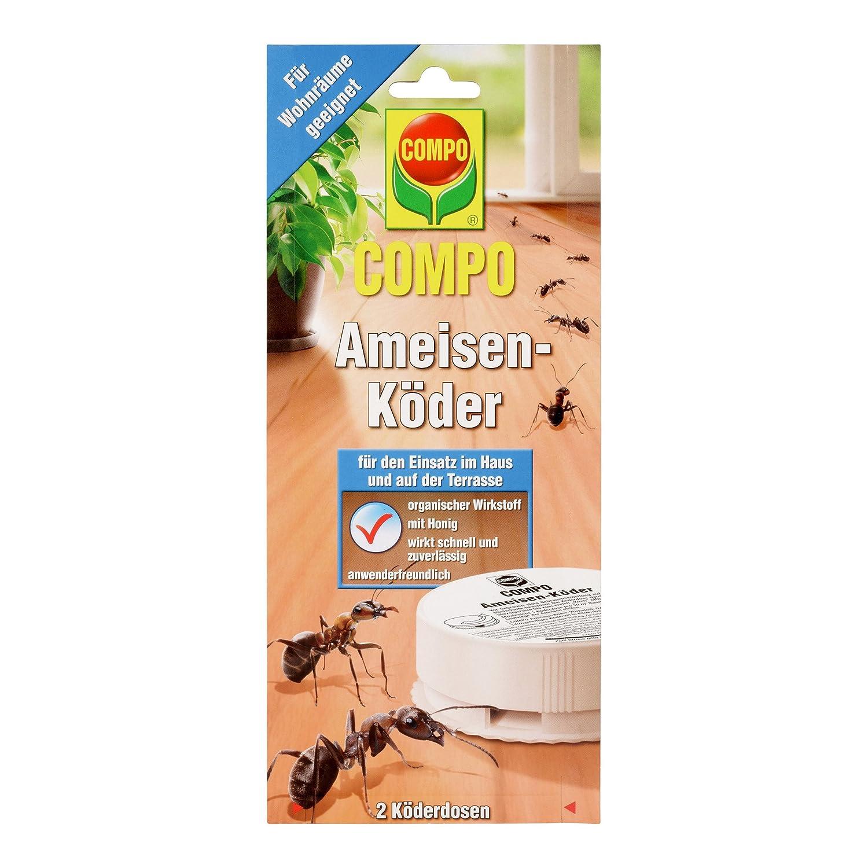 COMPO Ameisen-Köder, Bekämpfung von Ameisen im Wohn-, Essbereich und Terrasse, 2 Köderdosen COMPO Ameisen-Köder 2 Köderdosen 16464