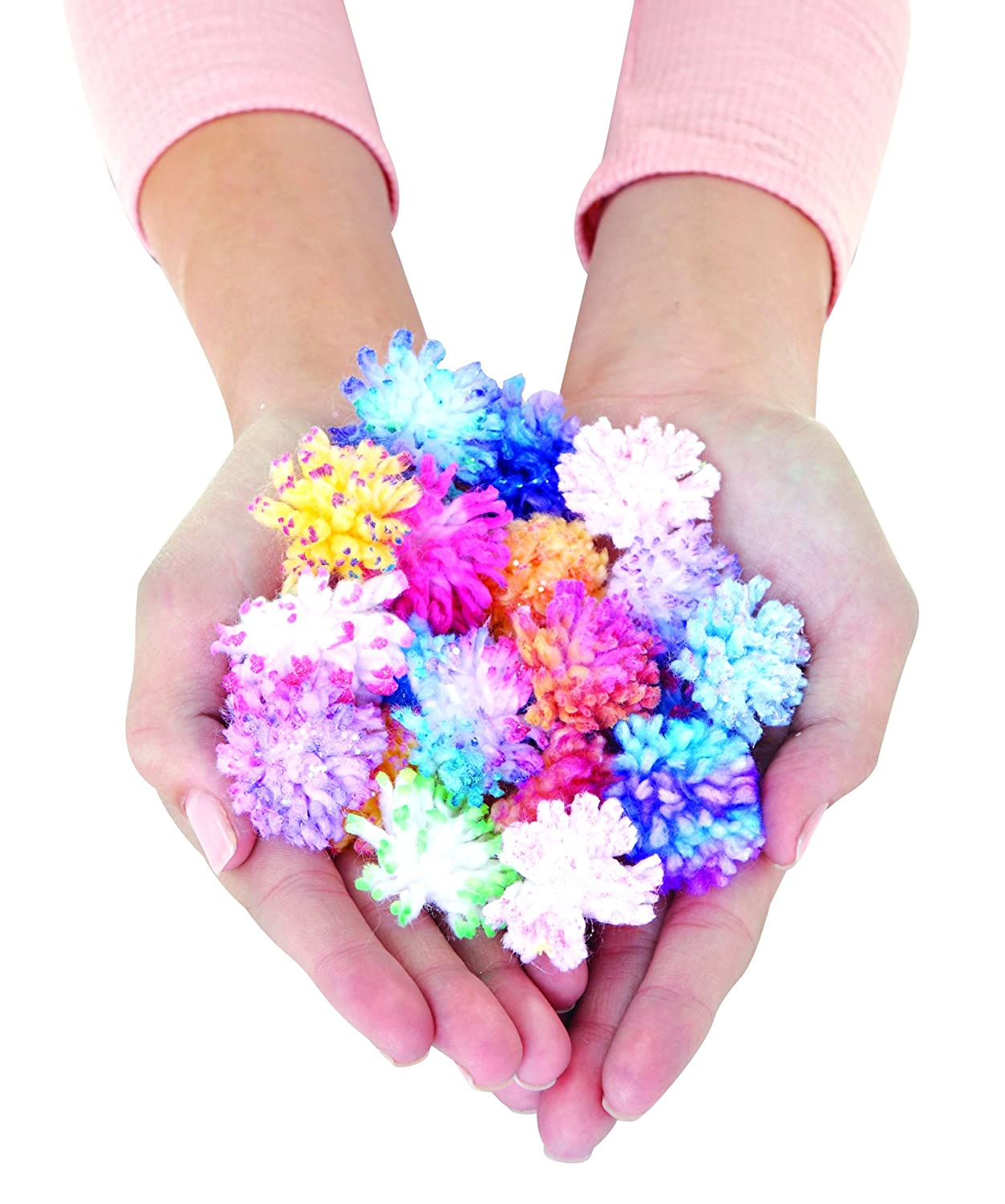 Look at all the mini pom poms you can makes with this creative toys for kids