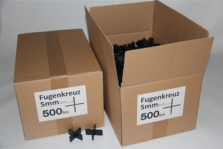 Fugenkreuze 5mm, Bauhö he 20mm, 500 Stü ck im Karton B+B Plattenbeläge GmbH