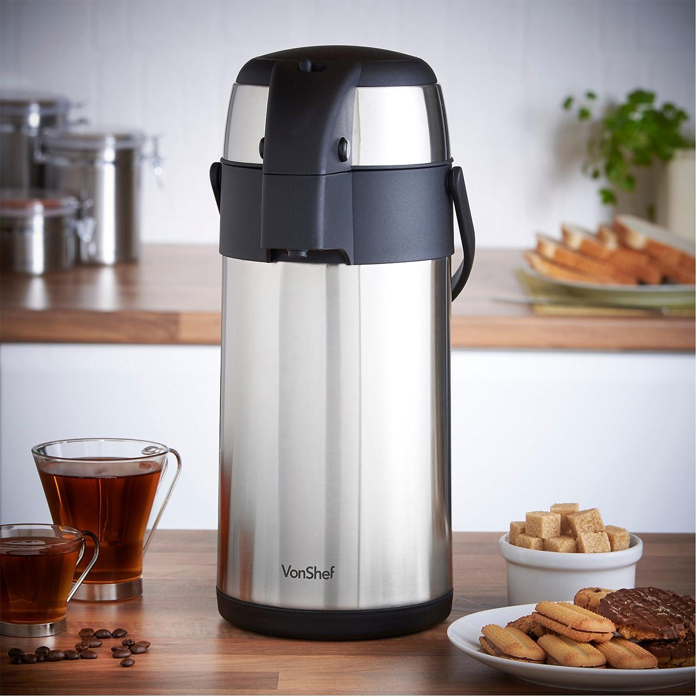 Amazon.com: VonShef Thermal Airpot Carafe Coffee Beverage Dispenser ...
