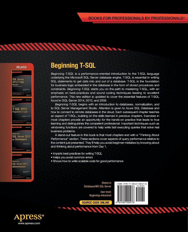 Beginning T-SQL by Apress