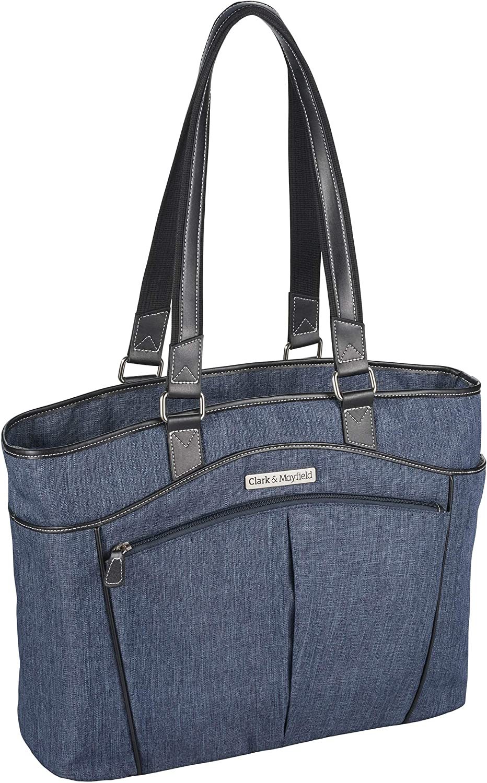 "Clark & Mayfield Reed Laptop Handbag 17.3"" (Indigo Blue)"