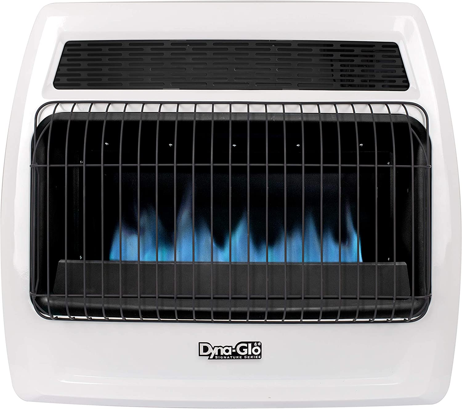 Dyna-Glo BFSS30NGT-4N 30,000 BTU Natural Gas Blue Flame Thermostatic Vent Free Wall Heater, White
