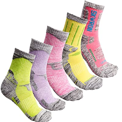 5Pack Women's Antiskid Wicking Multi Performance Outdoor Hiking Camping Cushion Socks