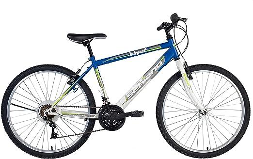 F.lli Schiano MTB Integral Power Bicicleta de montaña, Hombre, Azul/Blanco, 24