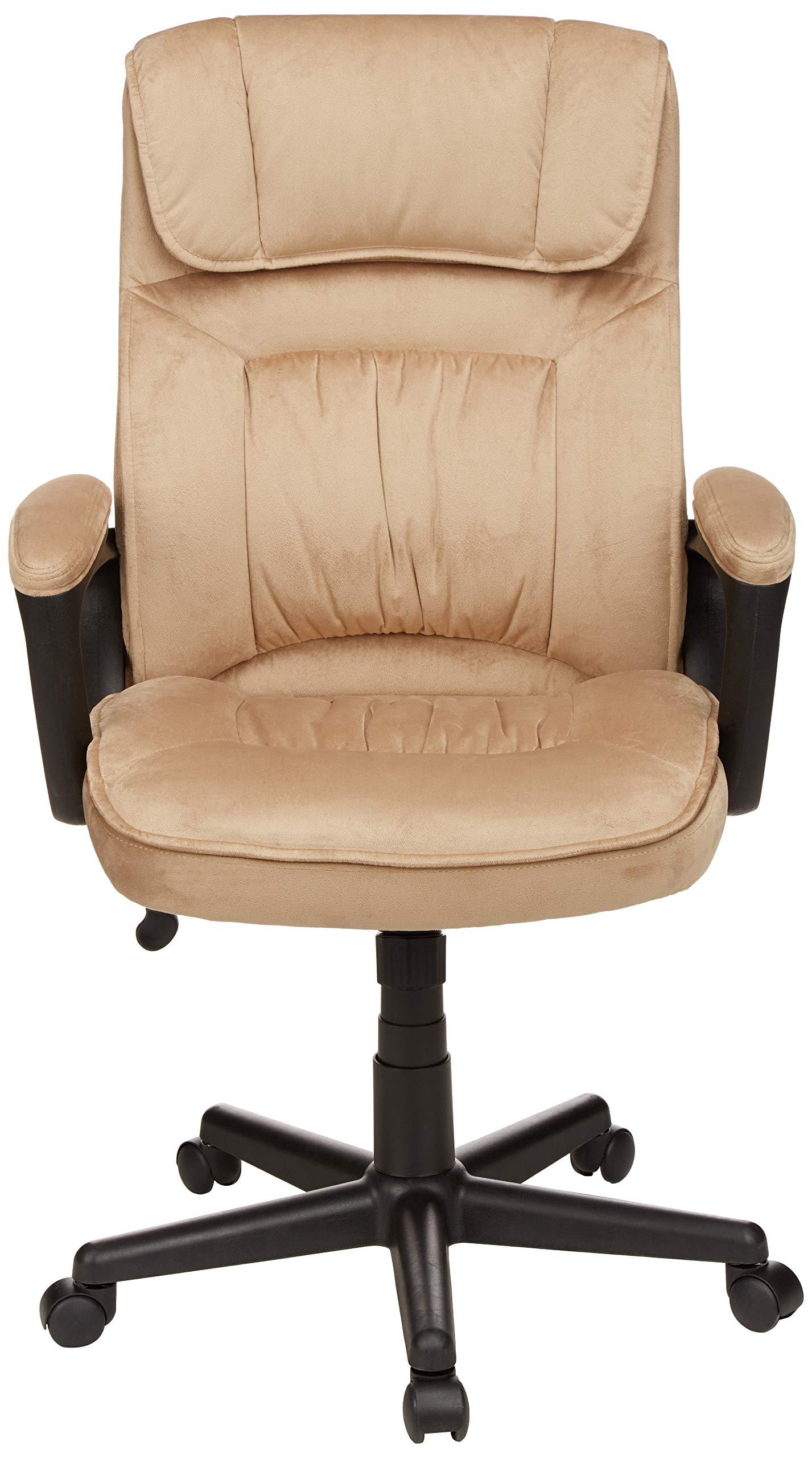 AmazonBasics Classic Office Chair - Adjustable, Swiveling, Microfiber Cover - Light Beige by AmazonBasics (Image #4)