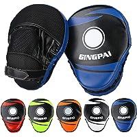 Gingpai - Guantes de boxeo curvados para entrenamiento de piel para artes marciales mixtas, karate, muay thai, sparring…