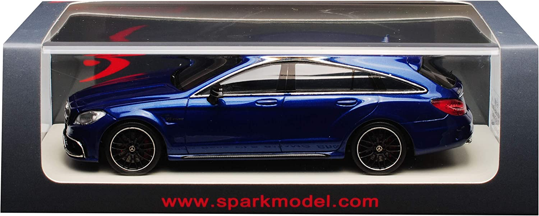 Generation 2011-2017 1//43 Modell Auto mit individiuellem Wunschkennzeichen Spark Mercedes-Benz CLS-Klasse X218 CLS63 AMG Shooting Brake Blau 2