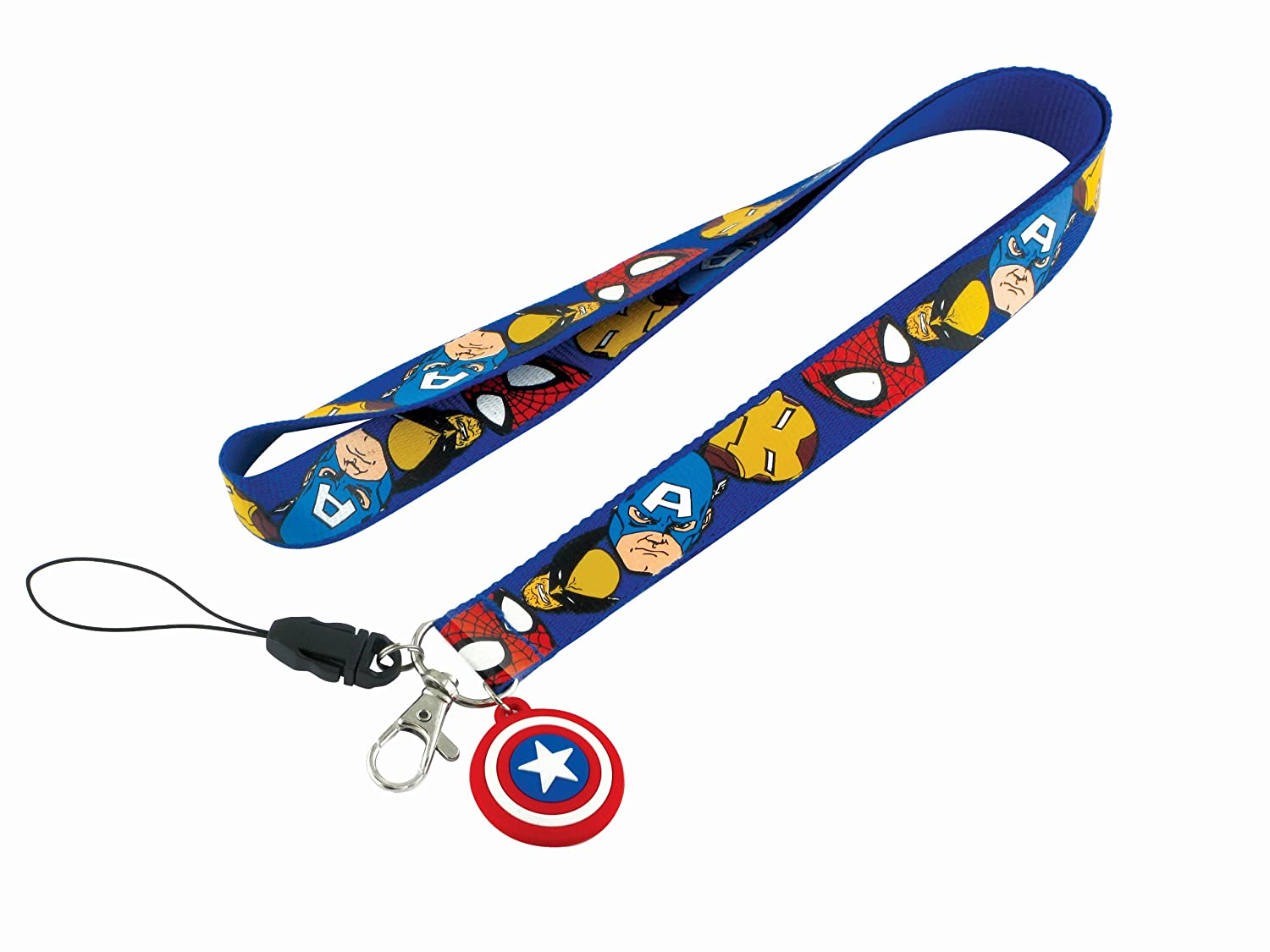 Marvel Comics Captain America Lanyard With Soft Touch Dangle