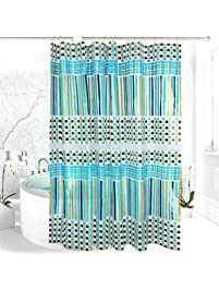 teal shower curtain hooks. EVA Shower Curtain Liner with Metal Hooks  Mold Mildew Resistant Waterproof Anti bacterial Shop Amazon com Curtains Liners