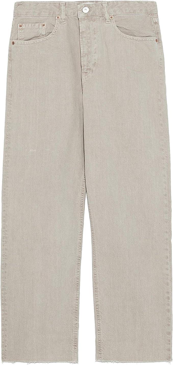 Zara 8246/242 - Pantalones vaqueros para mujer - Beige - 42 ...