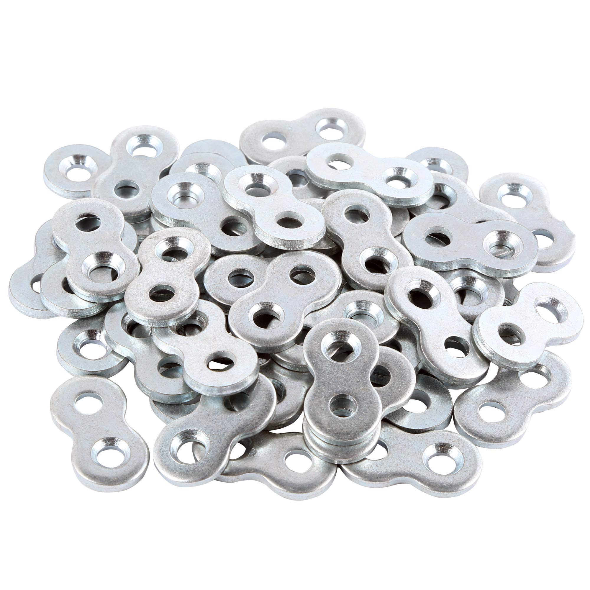 L Continue Figure 8 Fastener or Table Fasteners, Heavy Duty Steel and Galvanized Exterior. (50 Pack) by L Continue (Image #1)