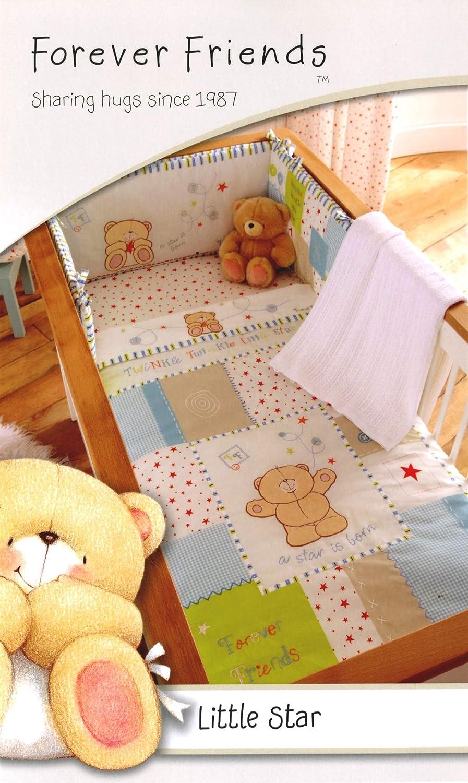 Bedding Set Quilt Blanket Forever Friends Pink Girls 5 Piece Cot Bed Bumper