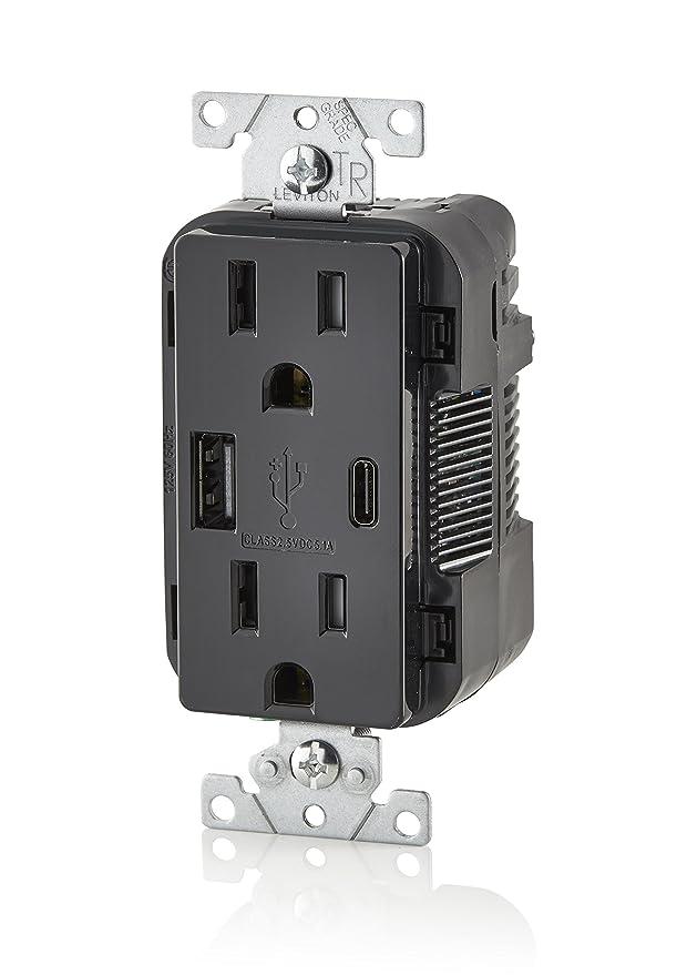 Amazon.com: Leviton T5633-E 15A 125V Decora - Cargador USB ...