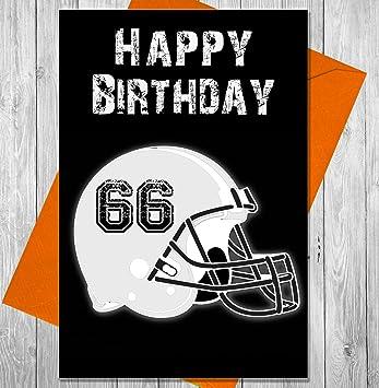 Casco de fútbol americano NFL tarjeta de cumpleaños blanco – Única pizarra efecto tarjeta de felicitación