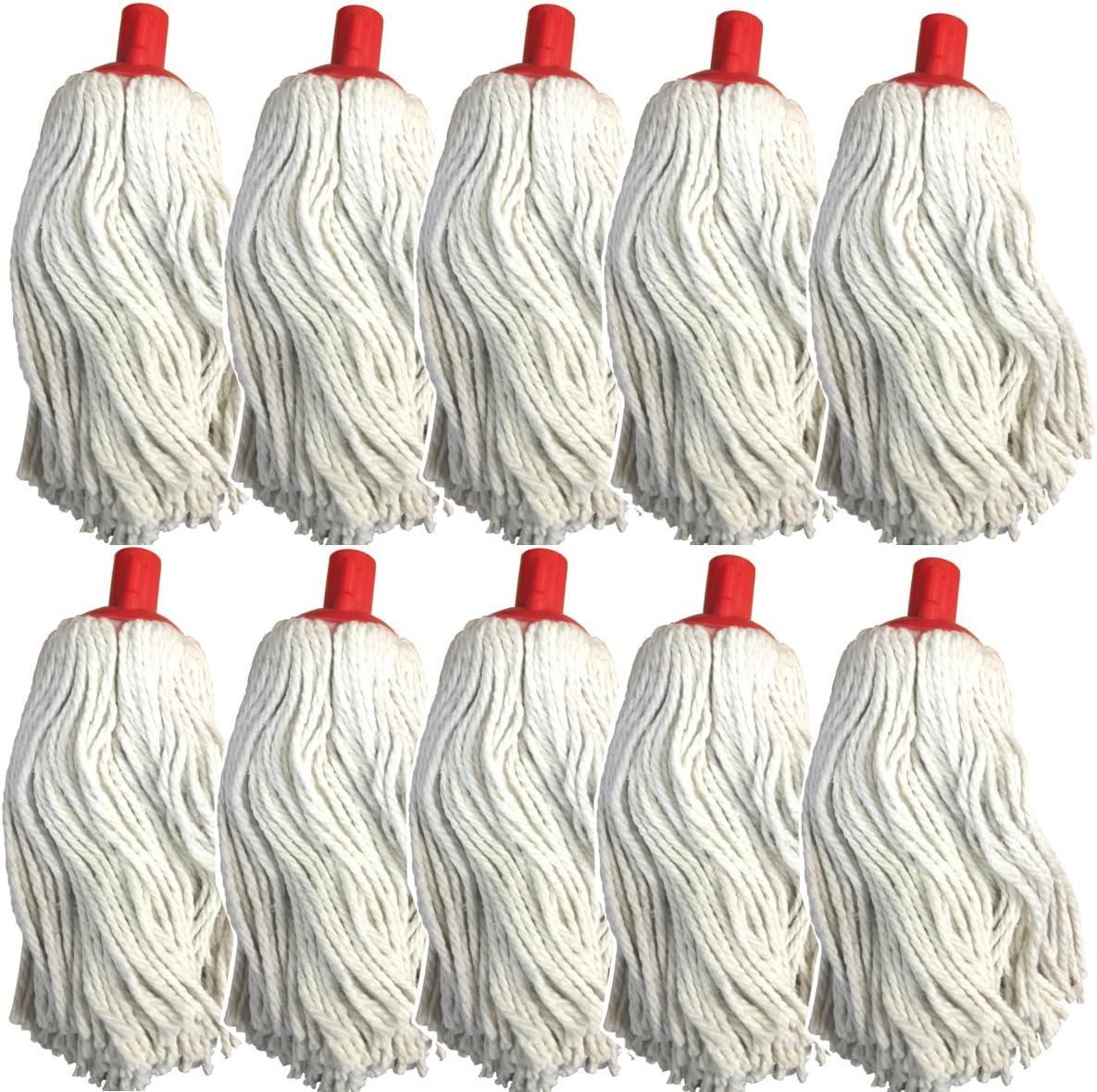 10 unidades) 16 oz cabeza fregona de algodón para cámara con ...