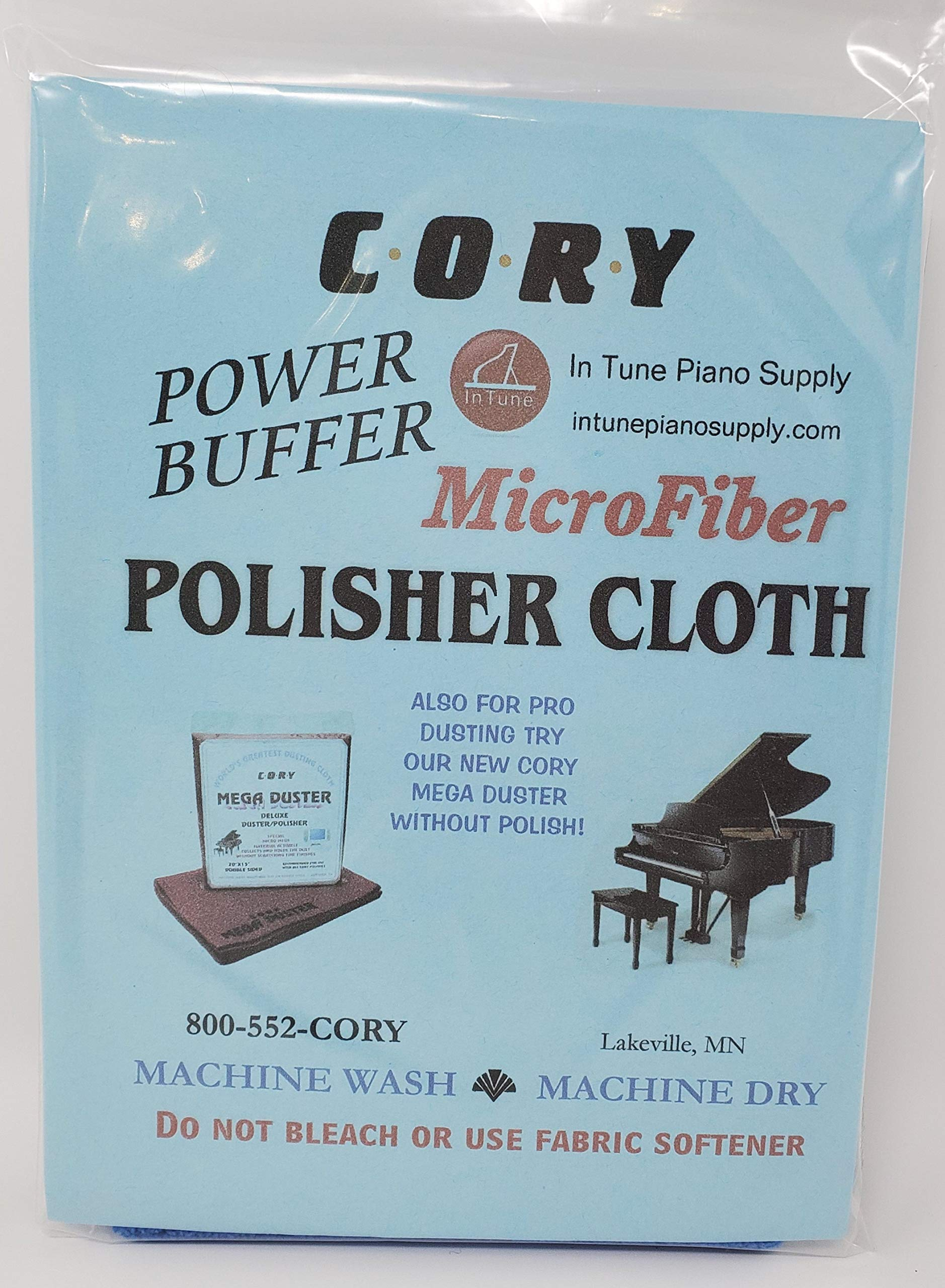 Microfiber Piano Polisher Cloth - Distributed by A Fully Authorized Cory Products Dealer