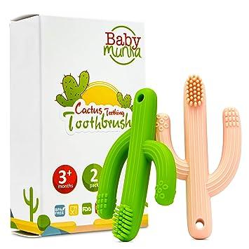 Amazon.com: Baby Munka Cactus - Cepillo de dientes de ...