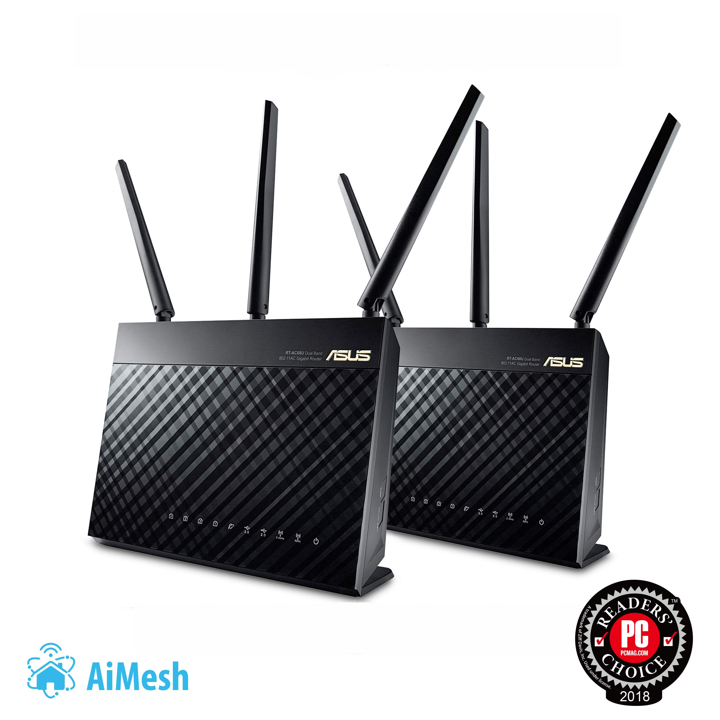 ASUS AC1900 Whole Home Dual-Band AiMesh Router (2PK) for Mesh Wifi System