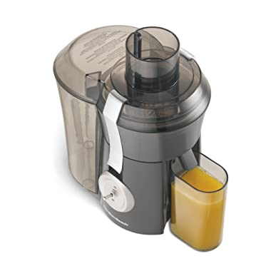 Hamilton Beach Pro Juicer Machine, Big Mouth Large 3  Feed Chute, Easy to Clean, 800 Watts, Grey and Die-Cast Metal (67650A),