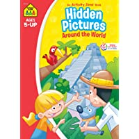 Image for School Zone - Hidden Pictures Around the World Workbook - Ages 5 and Up, Hidden Objects, Hidden Picture Puzzles, Geography, Global Awareness, and More (School Zone Activity Zone® Workbook Series)
