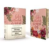 NIV Journal The Word Bible: New International Version, Artisan Collection Bible, Pink Floral, Designed Edges Under Gilding, Red Letter Edition, Comfort Print
