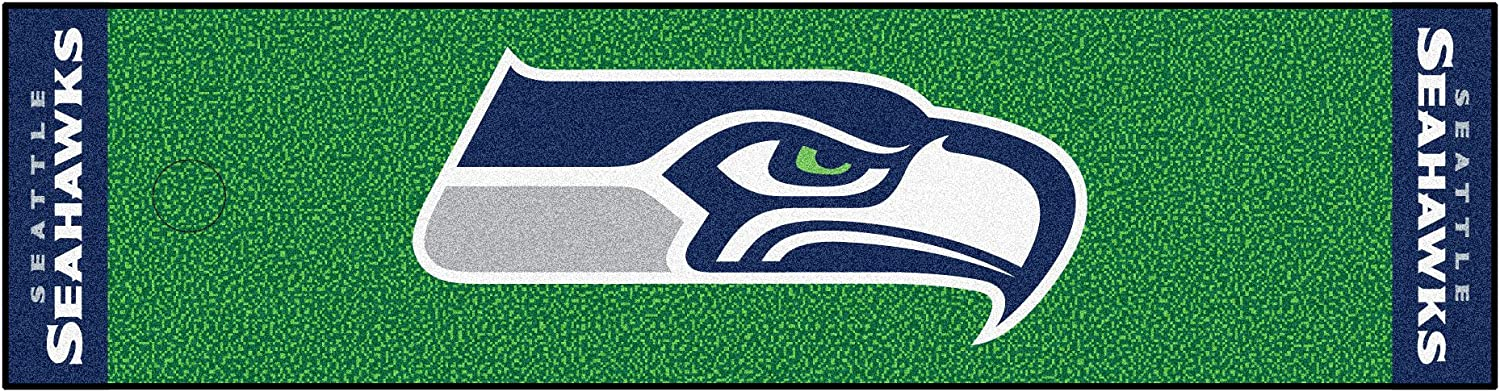 Max 42% OFF FANMATS NFL Seattle Seahawks Max 51% OFF Nylon Putting Green Mat Face