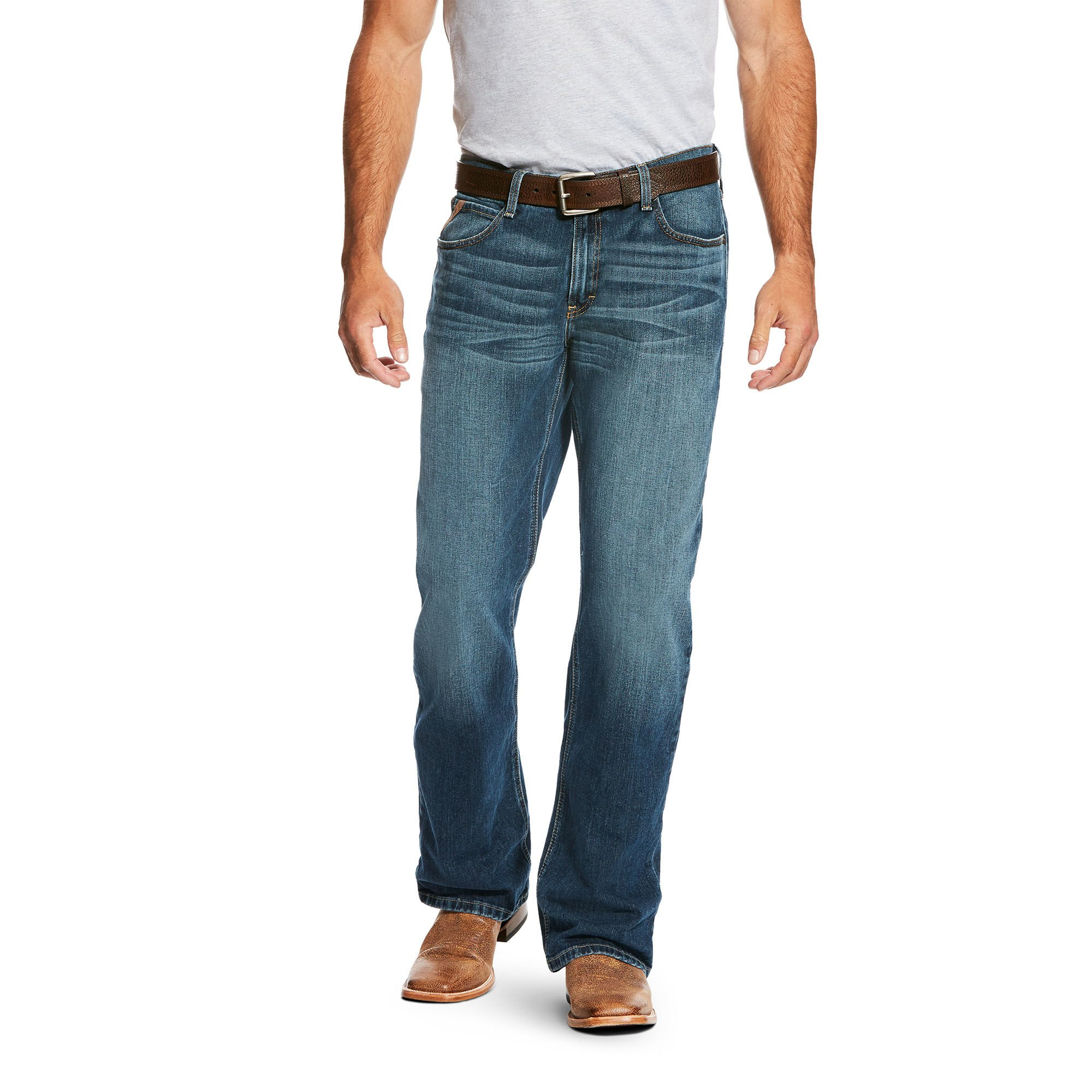 Ariat Men's M4 Low Rise Boot Cut Jean, Stretch Kiroy, 36X30