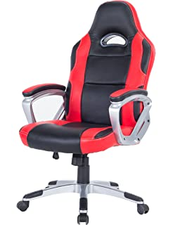 Killbee Swivel Executive Office Desk Chair Height Adjustable High Back  Upholstered Premium PU Leather (