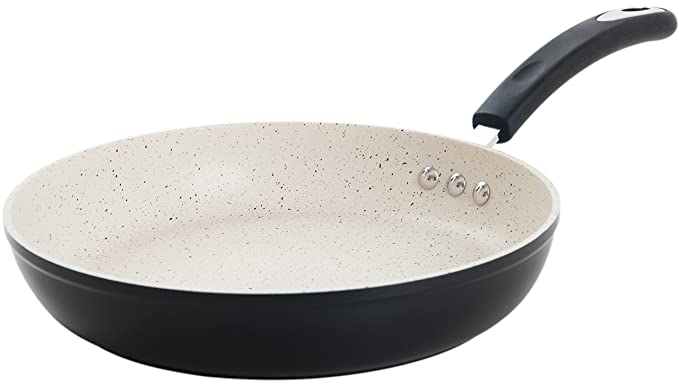 "12"" Stone Earth Frying Pan by Ozeri, with 100% APEO & PFOA-Free Stone-Derived Non-Stick Coating from Germany best nonstick skillet"