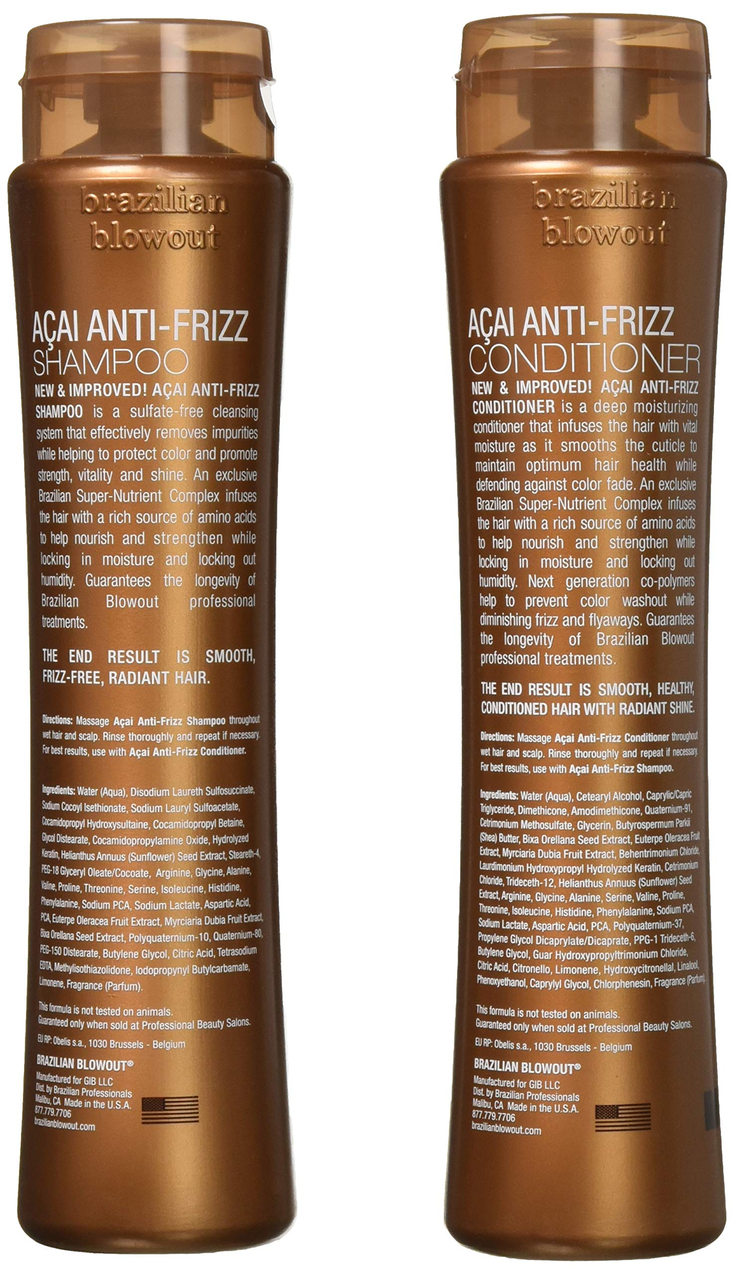 Brazilian Blowout Acai Anti-Frizz Shampoo & Conditioner 12oz bottles by Brazilian Blowout (Image #3)