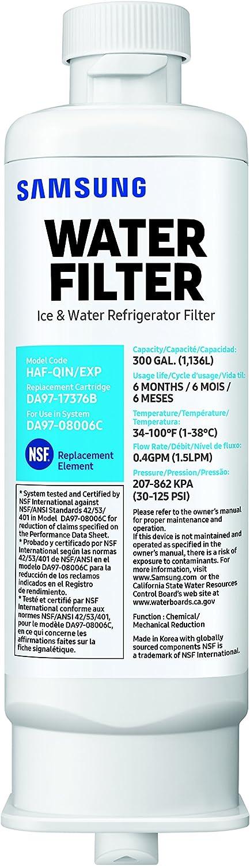 Samsung Genuine DA97-17376B Refrigerator Water Filter