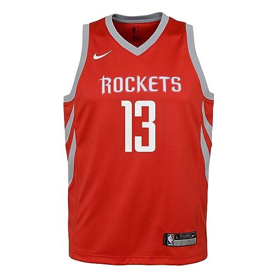 Nike NBA Houston Rockets James Harden 13 2017 2018 Icon Edition Jersey  Oficial Away be362b3f2765