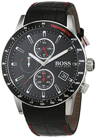 d9ae123593 Hugo BOSS Homme Chronographe Quartz Montres bracelet avec bracelet en Cuir  - 1513390