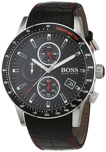 66c4cd462 HUGO BOSS Men's Chronograph Quartz Watch with Leather Strap – 1513390