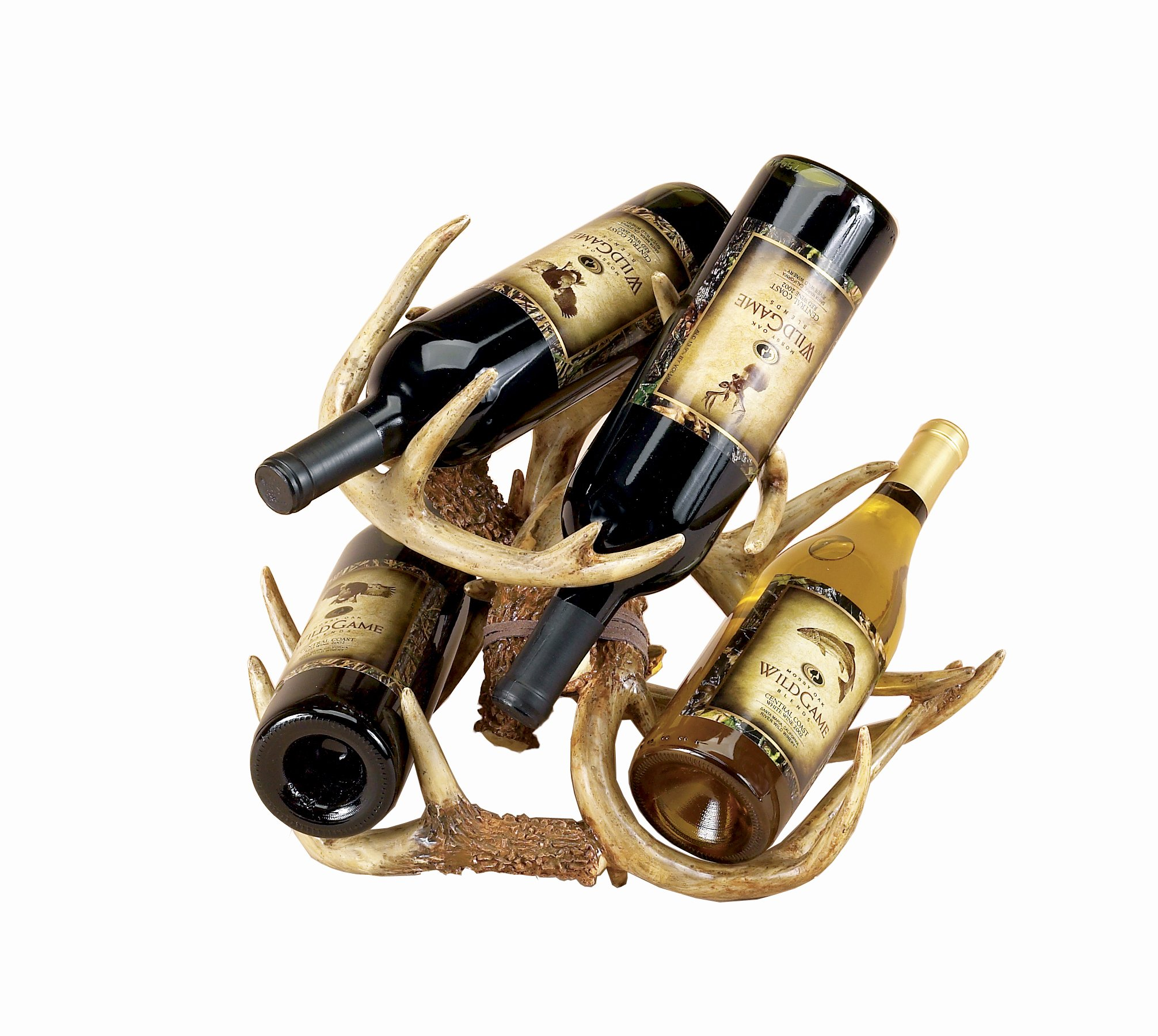 River's Edge Deer Antler Wine Rack