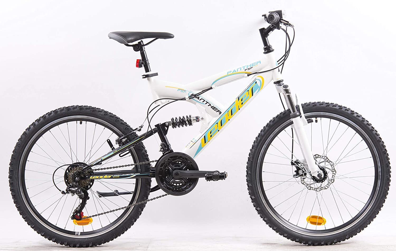 Bicicleta de montaña de 24 pulgadas, totalmente suspendida, 18 ...