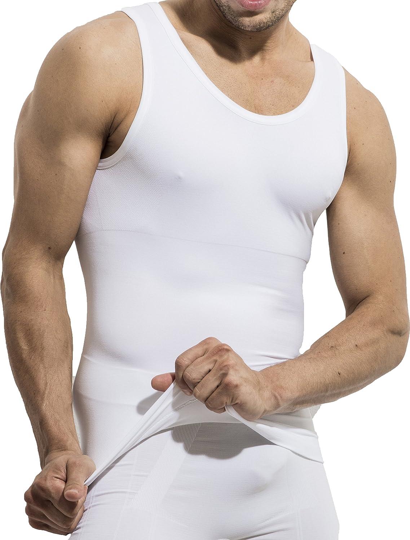 UnsichtBra Camiseta de Compresión | Ropa Interior Adelgazante Moldeadora Hombre